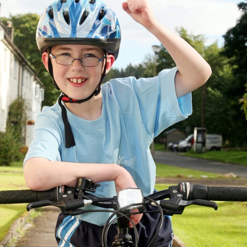 Daniel Foster from Kielder completed a 26 mile cycle ride to raise money for Calvert Trust. Story DC. D3710120  50010637H000.jpg