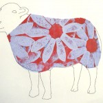 daisy sheep red