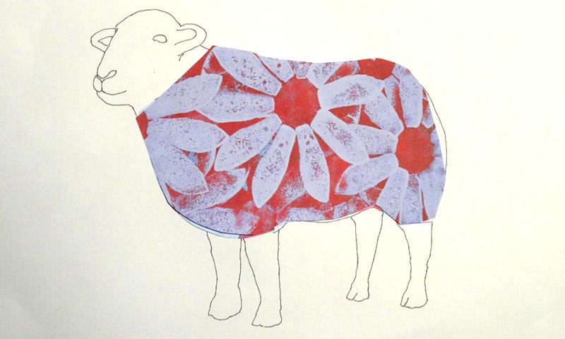 daisy sheep red